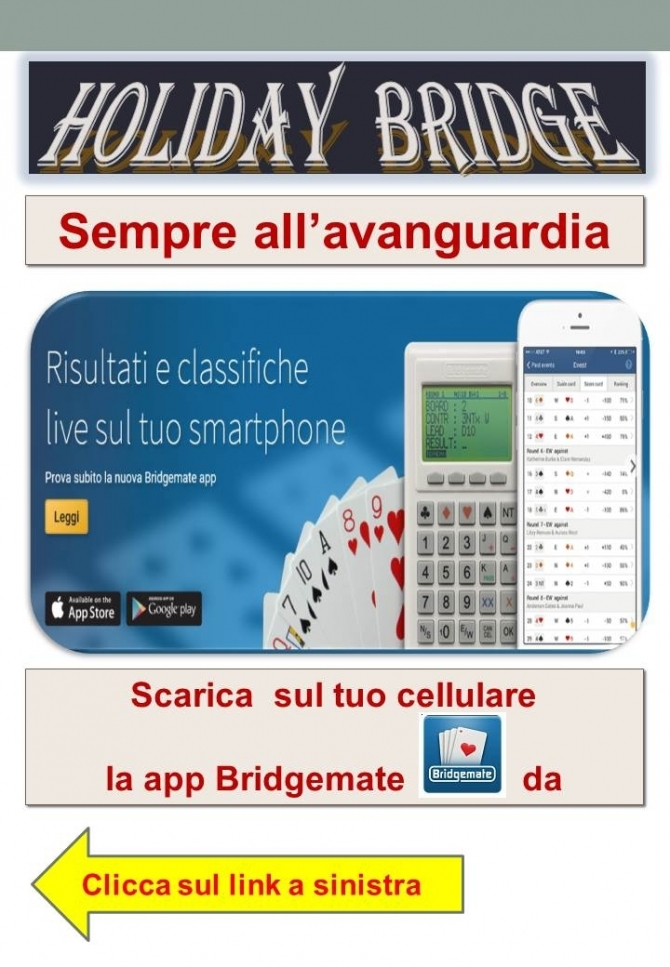 CONFIGURA IL TUO CELLULARE PER AVERE LA CLASSIFICA IN TEMPO REALE - HOLIDAY BRIDGE a.s.d.